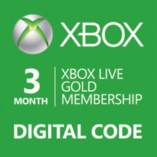 3 Month Xbox Live Gold Membership Digital Code Xbox 360 One Fast Email Delivery!