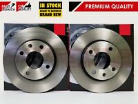 FOR VAUXHALL VIVA OPEL KARL PAIR FRONT BRAKE DISC DISCS PREMIUM BRAKING