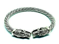 Celtic Dragon Serpent Twisted Stainless Steel Bracelet Bangle High Polish New