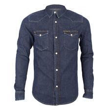 Mens Lee Western Dark Stone Long Sleeve Denim Shirt