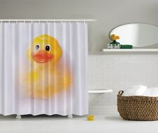 Humorous Yellow Duck Graphic Shower Curtain Novelty Funny Kids Bath Decor