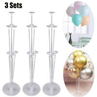 3pc Balloon Column Set Upright Base Stand Holder Display Kit Party Wedding Decor