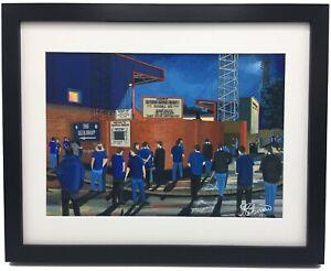 Rochdale A.F.C Spotland Stadium High Quality Framed Art Print. Approx A4.