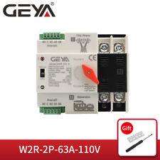 Geya Automatic Transfer Switch 2P 63A 110V Dual Power Grid Power to Ac Generator
