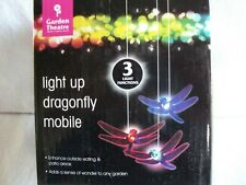 GARDEN THEATRE: LIGHT UP DRAGONFLY MOBILE, WITH 3 LIGHT FUNCTIONS, HANG ANYWHERE