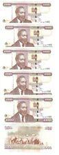 Kenya _ 5 pcs x 1000 Shillings 2010 P. 51e VF Lemberg-Zp