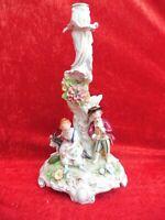 Hermosa, Talla Figura de Porcelana, Luces, Sitzendorf, Thüringen, 37,5cm
