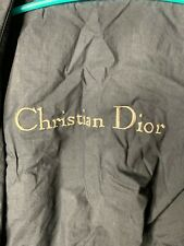 Vtg Christian Dior Mens Black Trench Coat Parka 38R Rain And Stain Repellent