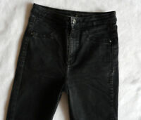 River Island Jeans 12 R super Skinny washed black Grey  high rise jeggings 32/29