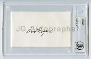 Ben Hogan - Legendary Golf Icon - Becket BAS Slabbed Autographed 3x5