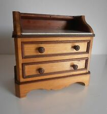 French Antique Handmade Toy/Dollhouse Dresser –Collectable Toys