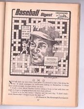 ROBERTO CLEMENTE PUZZLE JULY 1972 BASEBALL DIGEST RICHIE ALLEN COVER WHITE SOX