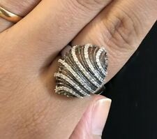 EFFY Ring Size 7.5 Silver Diamond .52ct Brand New With Tags NWT Gift