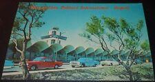 Vintage Postcard Metro Oakland Intl. Airport / Cars