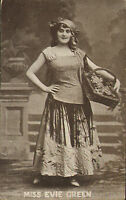 postcard of miss evie green - enamelette series number 6136 .early 1900s