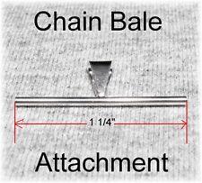 "NEW 925 Silver Pendant Chain Bale Attachment Converter for Ur Brooch Pin 1 1/4"""