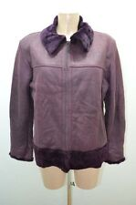 VESTE JACKET CUIR 1902 40 42 L VIOLET LEATHER