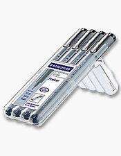 Staedtler Pigmento Liner-Fineliner Dibujo Plumas - 4 Pce Pen Set