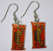 Reese's Earrings Chocolate Peanut Butter Candy Charms