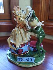 2004 Blue Sky Clayworks Lion & Frog Trust Tea Light Holder Heather Goldminc