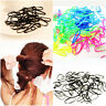 300pcs Nice Rubber  Rope Ponytail Holder Elastic Hair Band Ties Braids Plaits