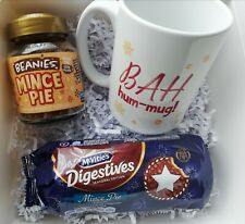 Mince Pie Lovers Christmas Gift Box Beanies Coffee Festive Mug Mincepie Biscuits