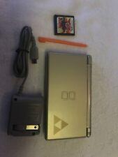 Nintendo DS Lite Legend of Zelda: Phantom Hourglass Gold Handheld System Charger