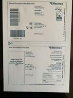 100 St. DHL/Hermes/DPD Versandetiketten Online Frankierung Paketschein Aufkleber