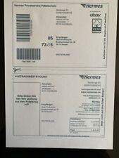 100 St. / Hermes Versandetiketten Online Frankierung Paketschein Aufkleber