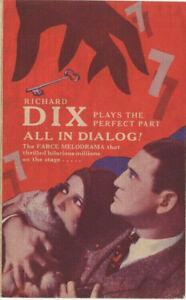 SEVEN KEYS TO BALDPATE - Vintage 1929 RKO Talkie Film MOVIE HERALD Richard Dix