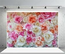 Vinyl Photography Backgrounds Colorful Rose Flowers 7x5ft Photo Studio Backdrops