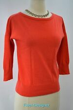 Ann Taylor cashmere wool pullover Sweater button back fine knit 3/4 slv XS NEW