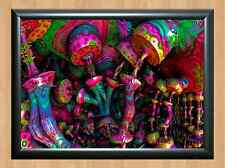 Psychedelic Trippy Funky Mushrooms Audio Video Visulization A4 Photo Print 11
