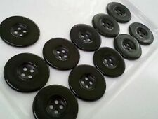 32 MM Large Black Plastic Coat Buttons, 24 Pieces, Home Decor, Jacket Buttons.
