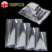 Heat Seal Flat Aluminum Vacuum Bags Silver Mylar Foil Food Vacuum Sealer Pouches
