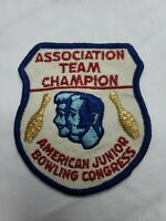 Vintage ABJC American Junior Bowling Congress Association Team Champion Patch