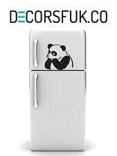 PANDA Bear frigo adesivi in vinile nero su A4-Cucina Adesivi