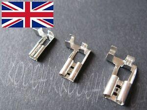 6.3 / 4.8 / 2.8 mm Right Angle - L Shape Flag Spade Crimp Terminals pvc cover UK