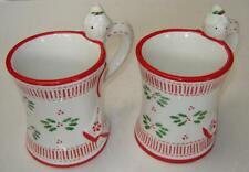 Temptations By Tara 2 Pc Set Coffee Tea Mug Christmas Peppermint Angel 12 oz