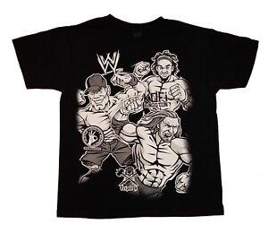 WWE Wrestling John Cena Kofi Kingston Triple H Graphic T-Shirt Boys Size XL14/16