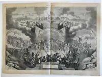 Yankee Doodle battle scene military music 1861 Harper's Weekly print