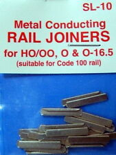 PECO CODE 100 OO/HO SL10 METAL CONDUCTING RAIL JOINERS X2 PACKS OF 24 PESL10