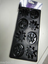 SPIDER AND WEB SILICONE ICE CUBE TRAYS EASY TO RELEASE-BLACK-HALLOWEEN