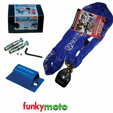 1.2M CHAIN LOCK & OXFORD SOLD SECURE GROUND ANCHOR MOTORCYCLE MOTORBIKE SECURITY