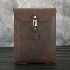 Fashion Korean Style Document File Case Pocket Clutch Leather Business Handbag