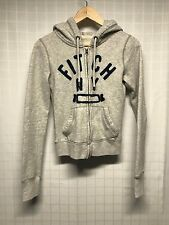 Abercrombie & Fitch / Kid's Hoodie / Fitch NY / Gray w Blue Lettering / X-Small