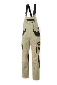 Pionier TOOLS Latzhose beige/braun Art-Nr.: 5436 Arbeitslatzhose Workwear Hose