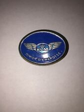 Rare KLM Airlines Junior Stewardess Metal Kiddie Wings pin badge