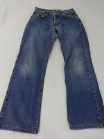 LUCKY BRAND DUNGAREES WOMENS MED WASH BLUE DENIM STRAIGHT LEG JEANS SIZE 2/26