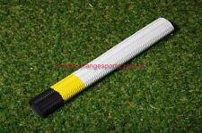 1 X RIPPLE/AQUA WHITE + YELLOW + BLACK  PREMIUM Grade  grip for Cricket Bat